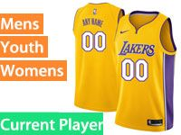 Mens Women Youth Nba Los Angeles Lakers Current Player Gold Nike Swingman Jersey