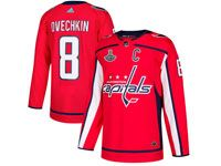 Mens Nhl Washington Capitals #8 Alexander Ovechkin Red 2018 Stanley Cup Champions Home Adidas Jersey