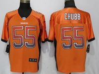 Mens Nfl Denver Broncos #55 Bradley Chubb Drift Fashion Orange Elite Nike Jersey