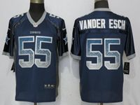 Mens Nfl Dallas Cowboys #55 Leighton Vander Esch Drift Fashion Blue Elite Nike Jersey
