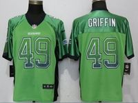 Mens Nfl Seattle Seahawks #49 Shaquem Griffin Drift Fashion Green Elite Nike Jersey