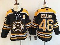 Mens Nhl Boston Bruins #46 David Krejci (a) Black Home Adidas Jersey