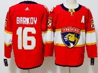 Mens Nhl Florida Panthers #16 Aleksander Barkov Red Adidas Jersey