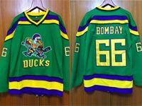 Mens Nhl Anaheim Mighty Ducks #66 Bombay Green Movie Jersey