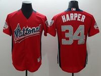 Mens Washington Nationals #34 Bryce Harper 2018 Mlb All Star Game National League Red Cool Base Jersey