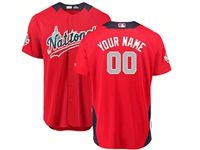 Mens Custom Made 2018 Mlb All Star Game National League Red Cool Base Jersey