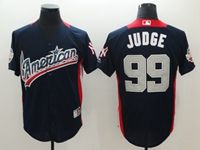 Mens New York Yankees #99 Aaron Judge 2018 Mlb All Star Game American League Navy Cool Base Jersey