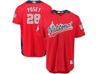 Mens San Francisco Giants #28 Buster Posey 2018 Mlb All Star Game National League Red Cool Base Jersey