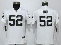 Women Nfl Oakland Raiders #52 Khalil Mack White Vapor Untouchable Elite Jersey