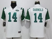 Women New York Jets #14 Sam Darnold White Vapor Untouchable Elite Player Jersey