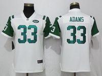 Women New York Jets #33 Jamal Adams White Vapor Untouchable Elite Player Jersey