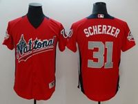 Mens Washington Nationals #31 Max Scherzer 2018 Mlb All Star Game National League Red Cool Base Jersey