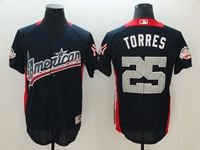 Mens New York Yankees #25 Gleyber Torres 2018 Mlb All Star Game American League Navy Cool Base Jersey