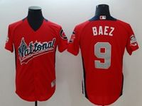 Mens Chicago Cubs #9 Javier Baez 2018 Mlb All Star Game National League Red Cool Base Jersey