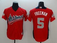 Mens Atlanta Braves #5 Freddie Freeman 2018 Mlb All Star Game National League Red Cool Base Jersey
