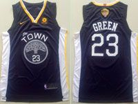Mens Nba Golden State Warriors #23 Draymond Green Black The Town Nike Jersey