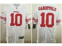Mens Nfl San Francisco 49ers #10 Jimmy Garoppolo White Elite Jersey