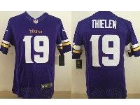 Mens Nfl Minnesota Vikings #19 Adam Thielen Purple Elite Jersey