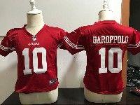 Kids Nfl San Francisco 49ers #10 Jimmy Garoppolo Game Red Jersey