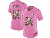 Women Nfl Pittsburgh Steelers #84 Antonio Brown Pink Camouflage Font Love Vapor Untouchable Elite Player Jersey