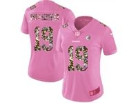 Women Pittsburgh Steelers #19 Smith-schuster Pink Camouflage Font Love Vapor Untouchable Elite Player Jersey
