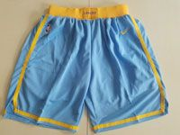 Mens Nba Los Angeles Lakers Light Blue Nike Shorts