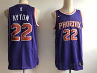 Mens Nba Phoenix Suns #22 Deandre Ayton Purple Nike Icon Edition Swingman Jersey