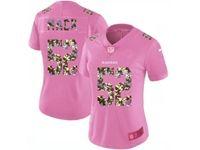 Women Oakland Raiders #52 Khalil Mack Pink Camouflage Font Love Vapor Untouchable Elite Player Jersey