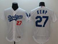 Mens Mlb Los Angeles Dodgers #27 Matt Kemp White Flex Base Player Jersey