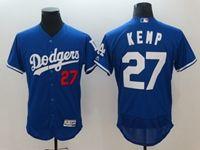 Mens Mlb Los Angeles Dodgers #27 Matt Kemp Blue Flex Base Player Jersey