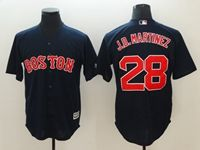 Mens Mlb Boston Red Sox #28 J.d. Martinez Blue Cool Base Jersey