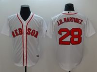 Mens Mlb Boston Red Sox #28 J.d. Martinez White Cool Base Jersey