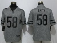 Mens Nfl Chicago Bears #58 Roquan Smith Gray Vapor Untouchable Stitched Gridiron Limited Jersey
