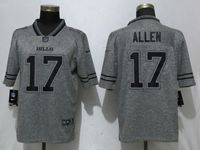 Mens Nfl Buffalo Bills #17 Josh Allen Gray Vapor Untouchable Stitched Gridiron Limited Jersey
