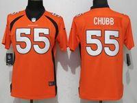 Women Nfl Denver Broncos #55 Bradley Chubb Orange Vapor Untouchable Elite Player Jersey