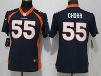 Women Nfl Denver Broncos #55 Bradley Chubb Blue Vapor Untouchable Elite Player Jersey