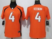 Women Nfl Denver Broncos #4 Case Keenum Orange Vapor Untouchable Elite Player Jersey