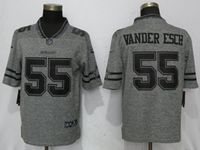 Mens Dallas Cowboys #55 Leighton Vander Esch Gray Vapor Untouchable Stitched Gridiron Limited Jersey