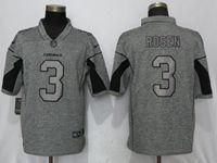 Mens Nfl Arizona Cardinals #3 Josh Rosen Gray Vapor Untouchable Stitched Gridiron Limited Jersey