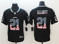 Mens Dallas Cowboys #21 Ezekiel Elliott 2018 Usa Flag Fashion Black Vapor Untouchable Limited Jersey