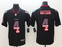 Mens Houston Texans #4 Deshaun Watson 2018 Usa Flag Fashion Black Vapor Untouchable Limited Jersey