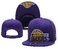 Mens Los Angeles Lakers Purple Adjustable Snapback Hats