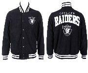 Mens Nfl Oakland Raiders Black Heavyweight Embroidered Jacket