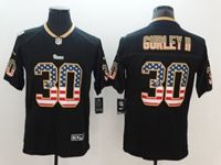 Mens Los Angeles Rams #30 Todd Gurley Ii 2018 Usa Flag Fashion Black Vapor Untouchable Limited Jersey