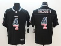 Mens Dallas Cowboys #4 Dak Prescott 2018 Usa Flag Fashion Black Vapor Untouchable Limited Jersey