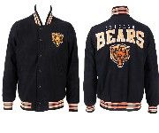Mens Nfl Chicago Bears Black Heavyweight Embroidered Jacket
