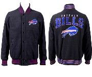 Mens Nfl Buffalo Bills Black Heavyweight Embroidered Jacket