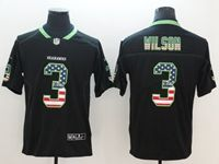 Mens Seattle Seahawks #3 Russell Wilson 2018 Usa Flag Fashion Black Vapor Untouchable Limited Jersey