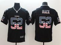 Mens Oakland Raiders #52 Khalil Mack 2018 Usa Flag Fashion Black Vapor Untouchable Limited Jersey