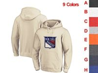 Mens Nhl New York Rangers 9 Colors One Front Pocket Hoodie Jersey